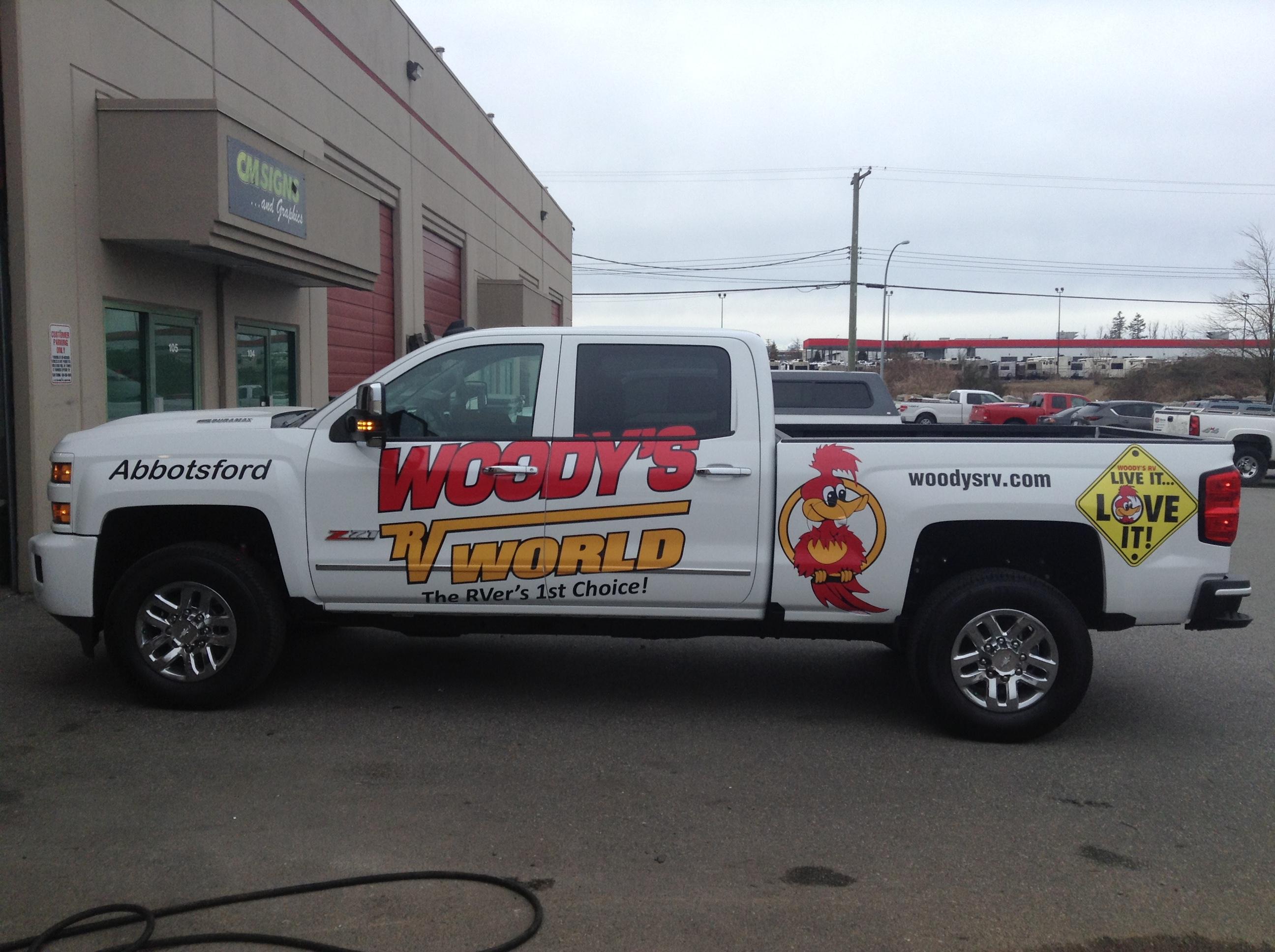 vehicle logo and vinyl graphics